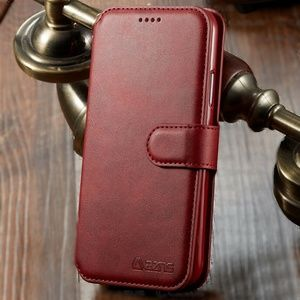 Leather Wallet Flip Cover Case for iPhone